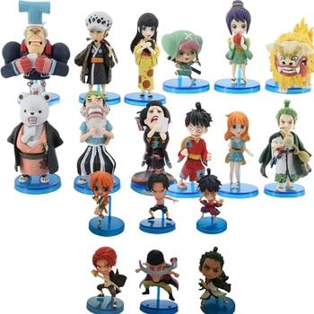 6pcs/set One Piece Anime Figure Toys LAND OF WANO Luffy Roronoa Zoro Nami Chopper  Kikunojo Kimono Ver. PVC Action Figure Toys недорого