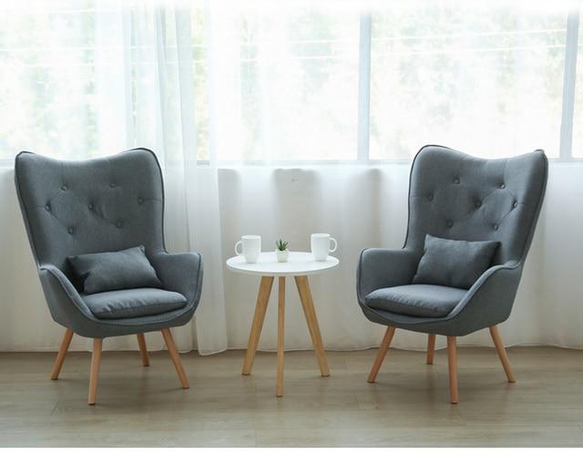 H Nordic Single Living Room Sofa Balcony Apartment Mini Chair Modern Minimalist Sofa Personality Leisure Bedroom Room Chair 2