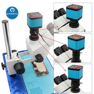 Full HD 1400W 60FPS 14MP HDMI USB Тринокулярный промышленный электронный цифровой видео микроскоп камера для телефона ремонт пайки