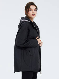 Astrid Outerwear Clothing Womens Jacket Plus-Size Spring-Coat Hood High-Quality