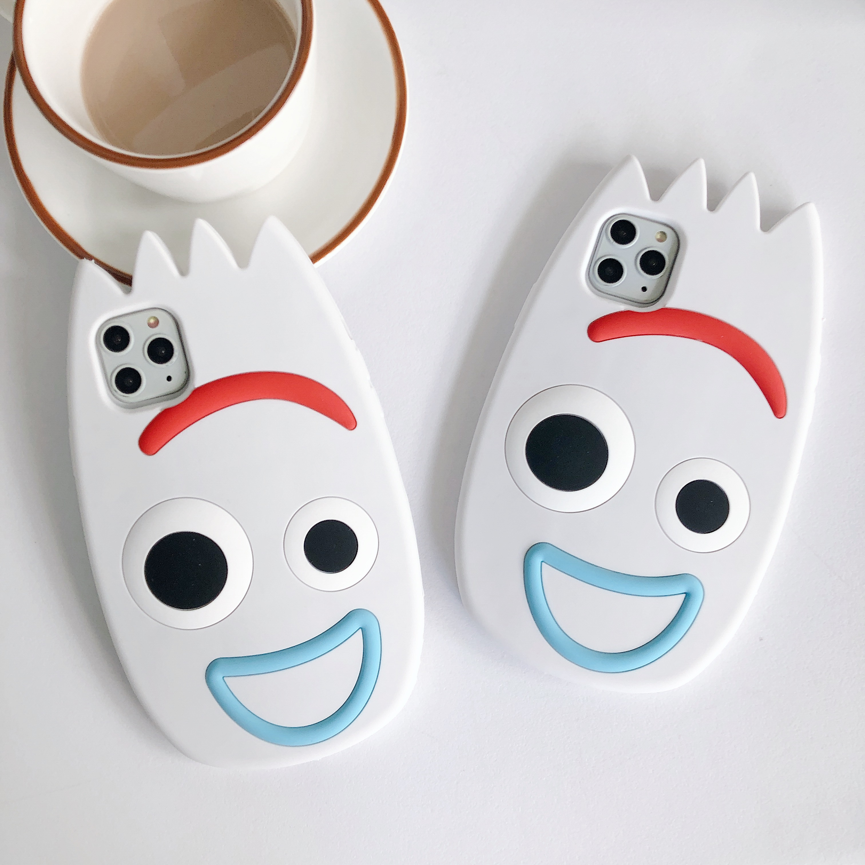 3D Cute Cartoon Funny Smile Forky Case For Apple Iphone XS 11 Pro Max XR X 6 6S 7 8 Plus Soft Silicone Rubber Cover Shell Fundas