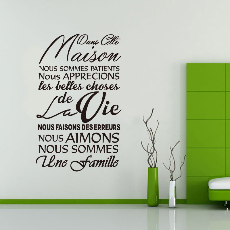 Francuska zdejmowana naklejka na ścianę winylową Dans Cette Maison - Wystrój domu - Zdjęcie 2