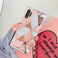 galaxy note Marble Phone Case For Samsung Galaxy A10 A20 A30 A50 A70 case Geometric Glossy For Samsung Galaxy S10 plus S10E Note 10 case (3)
