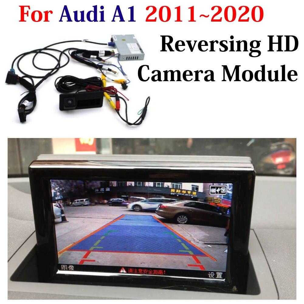 HD Передняя и задняя камеры заднего вида для Audi A1 8X 2011-2018 2019 2020 Автомобильный видеорегистратор оригинальный экран обновление декодер система...