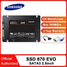 SAMSUNG SSD 870 EVO 250 ГБ 500 Гб Внутренний твердотельный диск HDD жесткий диск SATA 2,5 250 ГБ ТБ 2 ТБ дюймов ноутбук Настольный ПК