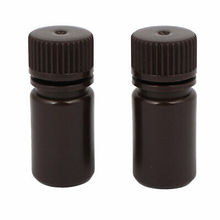 цены 2Pcs 15ml Plastic Wide Mouth Laboratory Reagent Bottle Sample Bottle Brown