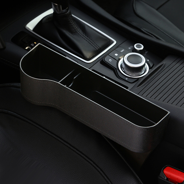 Car Seat Organizer Crevice Storage Box Car Organizer Gap Slit Filler Holder For Wallet Phone Slit Pocket Auto Car Accessories 3