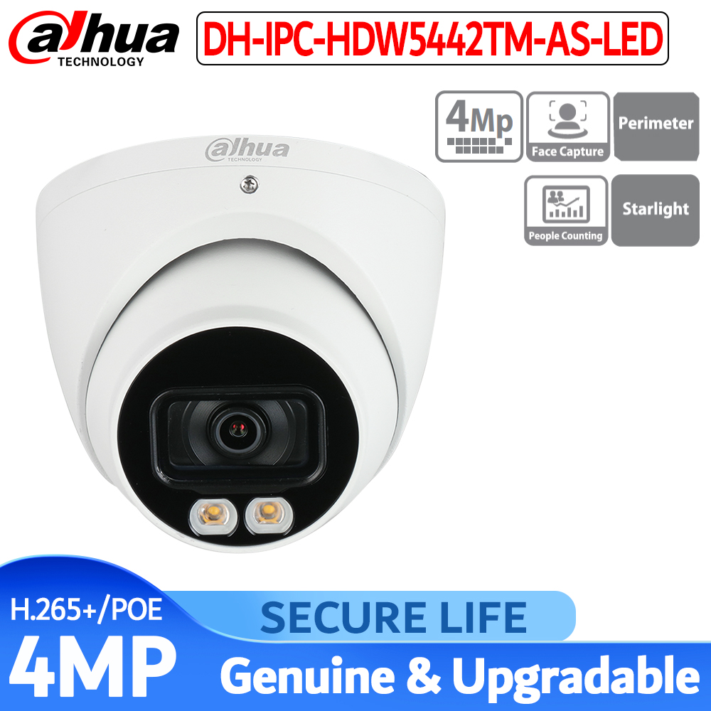 <font><b>Dahua</b></font> IPC-HDW5442TM-AS-LED <font><b>4MP</b></font> <font><b>IP</b></font> <font><b>Camera</b></font> Built-in MIC 24 Hours Full-color IP67 WDR Eyeball AI Network <font><b>Camera</b></font> image