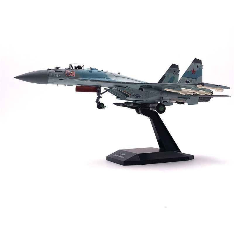 Jason TUTU Aircraft Plane Model 1/100 Russian Air Force Fighter Su 35 Airplane Alloy Model Diecast 1:100 Metal Planes