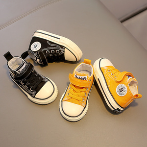 Image 5 - Childrens canvas shoes baby shoes boys 1 3 years old toddler shoes girls cloth shoes 2019 autumn new
