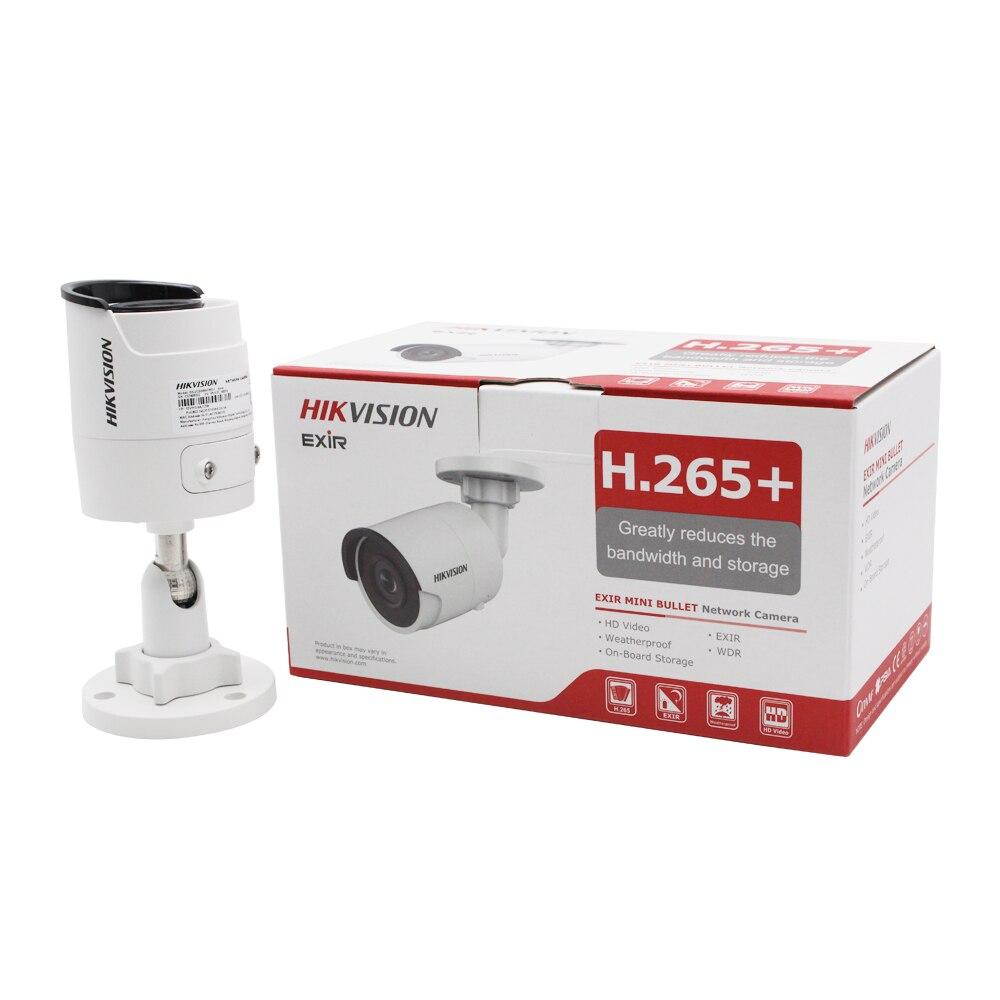 Hikvision Bullet 8MP kamera IP 4K DS-2CD2085FWD-I na zewnątrz 8 megapikseli CMOS nadzór wideo kamery POE 30m IR gniazdo kart SD
