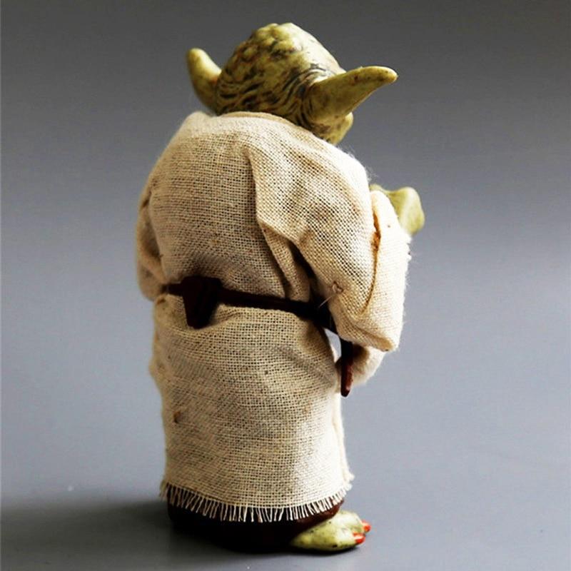 12cm Star Wars Jedi Knight Master Yoda PVC Action Figure Collectible Marvel Star Wars Yoda PVC Model Doll Kids Brinquedos 2