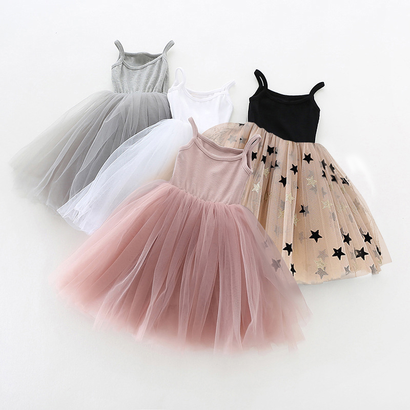 Little Girls Dress For Party Wedding Summer 2021 Baby Kids Dresses for Girls Children's Party Princess Tutu Dress Casual Clothes 1
