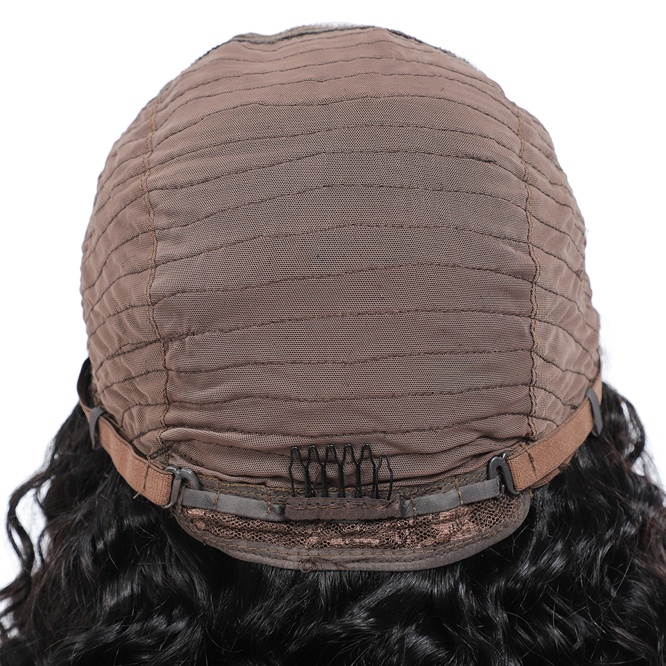 4*4 Curly Bob Wig Lace Front  Wigs With Baby Hair   Hair Short Curly Bob Wigs  Deep Wave Wig 6