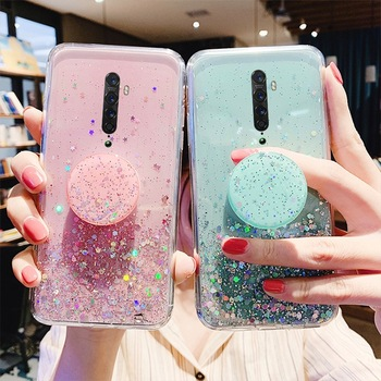 Glitter Case for OPPO Realme X2 6 5 3 2 Pro XT C2 C1 A1K A9 A5 2020 Cover For OPPO RENO 3 2 Z 10x Zoom F11 F9 Pro F7 Bling Case