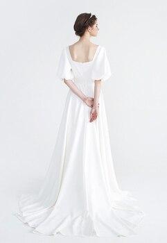 Ladies Elegant Satin Wedding-Dresses