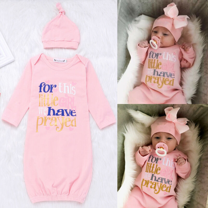 0-6M Newborn Kid Baby Girl Boy Pajamas Cute Sleeping Bag Soft Swaddle Muslin Blanket Wrap Sleepwear Nighwear Pj Set