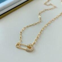 Louleur or 925 en argent Sterling chaîne collier broche pendentif collier ras du cou pour les femmes argent 925 Fine bijoux breloques créatif