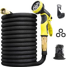 15-100FT Garden Hoses Expandable Magic Flexible Water Hose Plastic Hoses Pipe With Spray Gun For Garden Car Wash