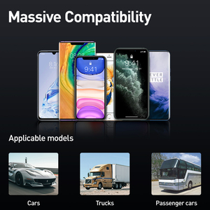 Image 5 - Baseus 자동차 충전기 FM 송신기 변조기 블루투스 무선 오디오 MP3 플레이어 듀얼 USB 휴대 전화 충전기 아이폰 삼성