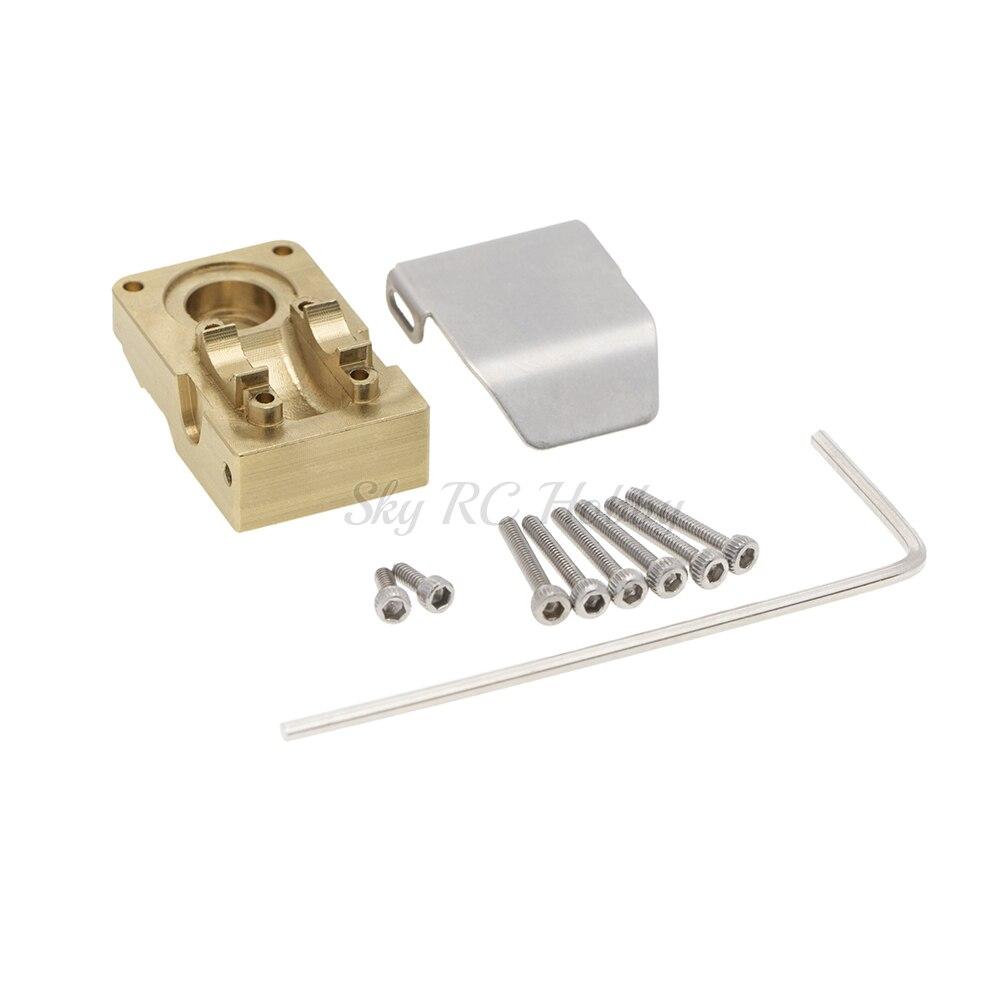 Couvercle de Diff en laiton, couvercle de contrepoids avec plaque de protection pour 1/24 Axial SCX24 90081 RC accessoires de voiture RC 1:24 partie