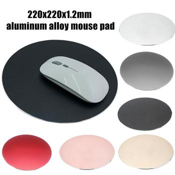 цена на Aluminium Alloy Waterproof Round Desktop Gaming Mouse Mat Pad Computer Accessory