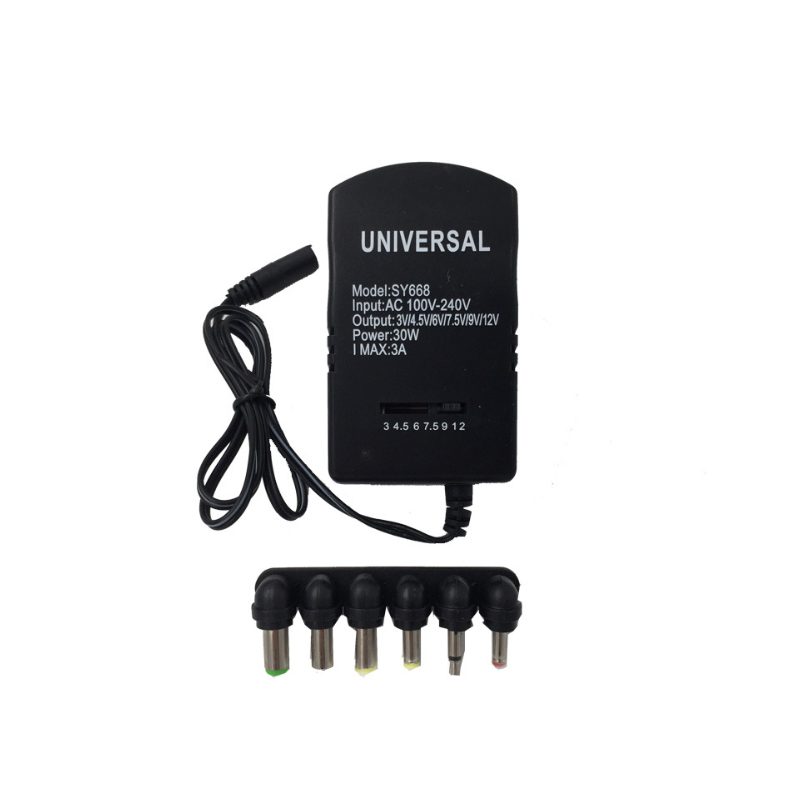 Voltage Adjustable Universal <font><b>Power</b></font> <font><b>Adapter</b></font> 110 <font><b>220V</b></font> <font><b>to</b></font> 12V 3V 4.5V <font><b>6V</b></font> 7.5V 9V <font><b>AC</b></font> <font><b>DC</b></font> <font><b>Adapter</b></font> 3A Max 12 Volt <font><b>Power</b></font> Supply Adaptor image