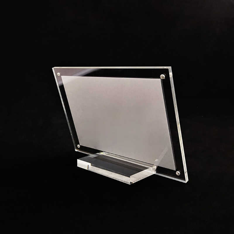 Plexiglass Table Card Display Stand Photo Frame Acrylic Table Card Sign Part Tool Kits For Wedding