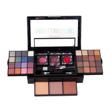 Makeup Set Box Professional Makeup Full Suitcase Makeup Kit Sexy Red Makeup Women Eyeshadow Palette Lipstick Set Concealer Set(China)