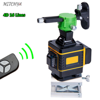 16 Lines 4D Laser level 360 Green Beam Wall and Floor High Precision Super Powerful Laser level Construction Tools