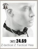 Z-tático sordin tático headsets ver couro bandana