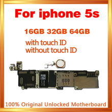 16GB 32GB 64GB Motherboard with / without touch ID for iphone 5S unlocked mainboard IOS System logic board with chips international language original n7100 mainboard chips logic 16gb for samsung galaxy note 2 motherboard