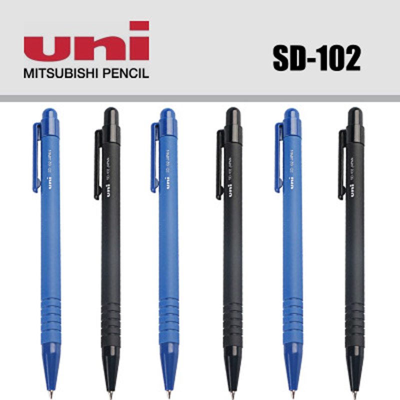 4 Pcs/Lot Mitsubishi Uni SD-102 Ballpoint Pen 0.7 Mm Tip Black Blue Ink Ballpoint Pens Writing Supplies  For Kids Child Student