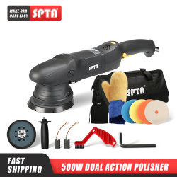 SPTA 5inch & 6Inch Car Polisher 15mm Dual Action Polisher Variable Speed Burnish Buffing Machine Home DIY Car Polisher