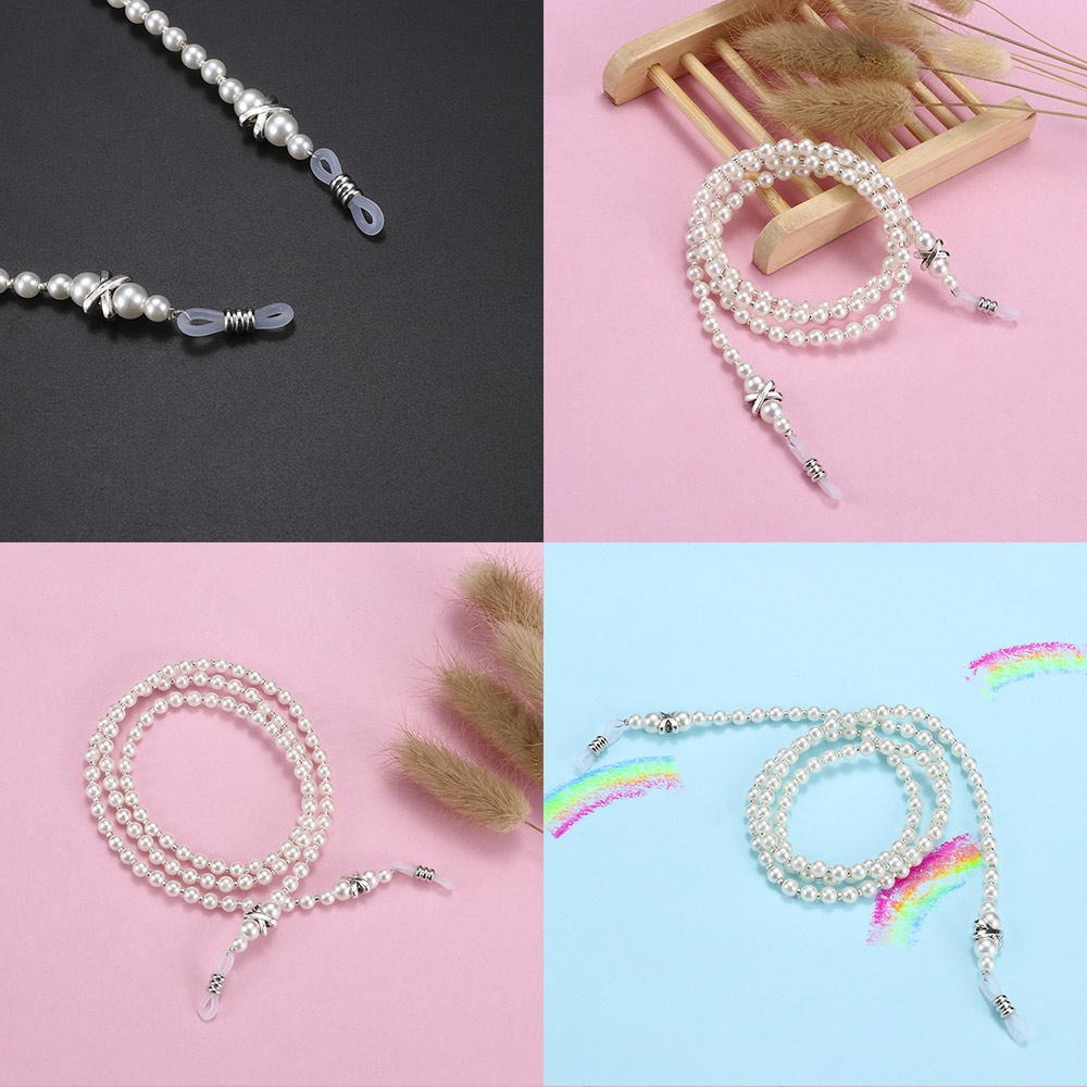 Sunglasses Strap Chain-Cord Rope Necklace Eyewears Handmade Beaded Fashion Women Imitation-Pearl