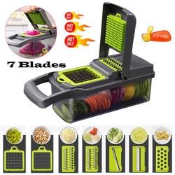 7 In1 еда овощи инструмент для нарезания фруктов слайсер для нарезки измельчитель овощерезка Фрукты резак для моркови овощная терка
