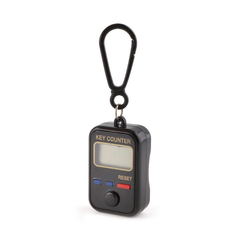 LCD Digit Electronic Tally Counter 0-99999 Keychain Finger Counter For Sewing Knitting Weave Tool