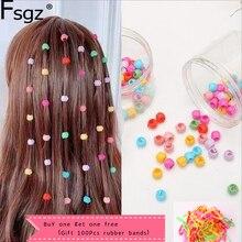 80 шт. мини-заколки для волос для женщин девочек милые карамельные цвета пластиковые заколки для волос косички производитель украшение для волос с бусинами аксессуары для волос