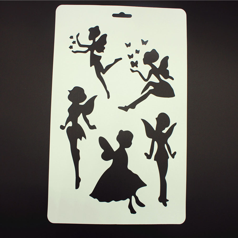 Elves Dancing Shape Stencils For Kids Drawing Painting Templates Educational Toys DIY Gift Cards Scrapbooking