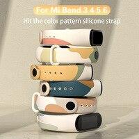 Cinturino colorato per Xiaomi Mi Band 5 6 NFC Sport Watch cinturino da polso in Silicone per Amazfit Band 5 cinturino per mi band 4 3 5 Wristband