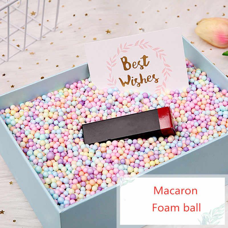 3 gr/beutel Bunte Schaum Ball Geschenk Box Füllstoff Candy Box Geschenk Verpackung Lieferungen Geburtstag Party Dekorationen Hochzeit Blume Box Füllstoff