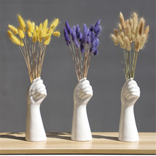 Styl skandynawski ręcznie kwiaty w wazonie nowoczesny wystrój domu i biura twórczej kompozycji kwiatowej ozdoba salonu wazon ceramiczny