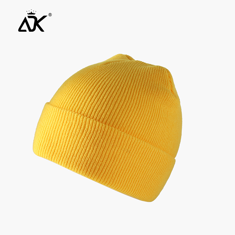 Winter Hats Short Cuffed Cap Warm All Match Bonnet For Woman Short Knitted Ribbed Beanie Casual Breathable Stretchy Cap 5