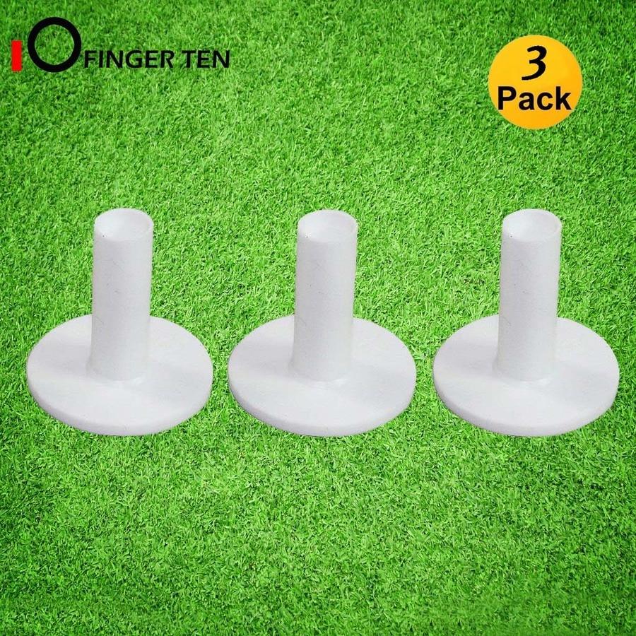 3 Pcs Durable White Rubber Golf Tees 1.15