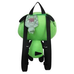 Image 5 - Neue Alien Invader Zim 3D Augen Roboter Gir Nette Gefüllte Plüsch Rucksack Grüne Tasche Weihnachten Geschenk 14 zoll