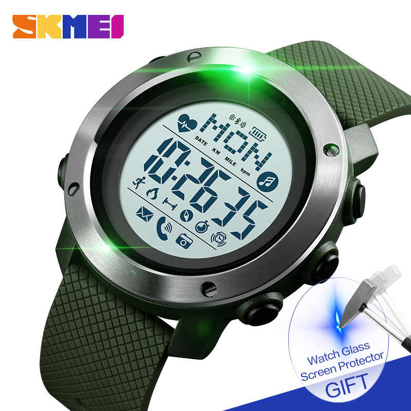 SKMEI Smart Watch Sport Men Watch Waterproof Steel Ring Bluetooth Magnetic Chargeing Electronic Compass reloj inteligent 1511
