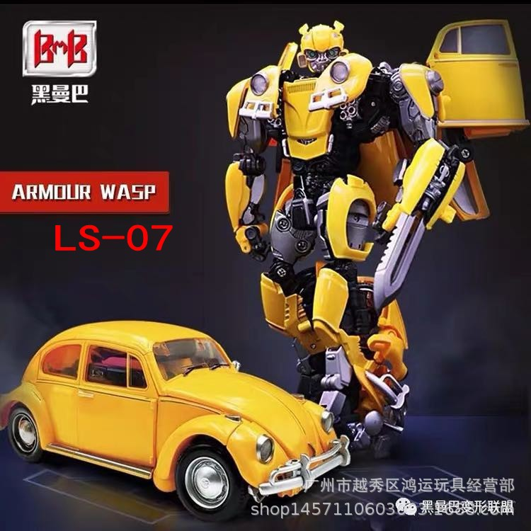 New Products Black Mamba Ls07 Hornets Warrior Alloy Version Of Car Robot Models Transformation Toy Jingang Hot Selling