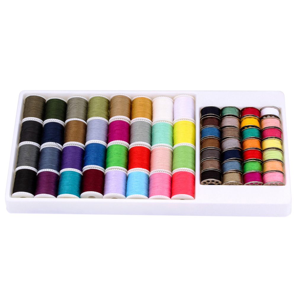 60pcs Household Thread Spools Set Hand Sewing Thread Sewing Machine Thread for Embroidery Quilting Costume Design (Mixed Colors) image