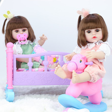 Toys Dolls Reborn Girls Baby Soft-Silicone Children for Can-Pee-39cm Simulation