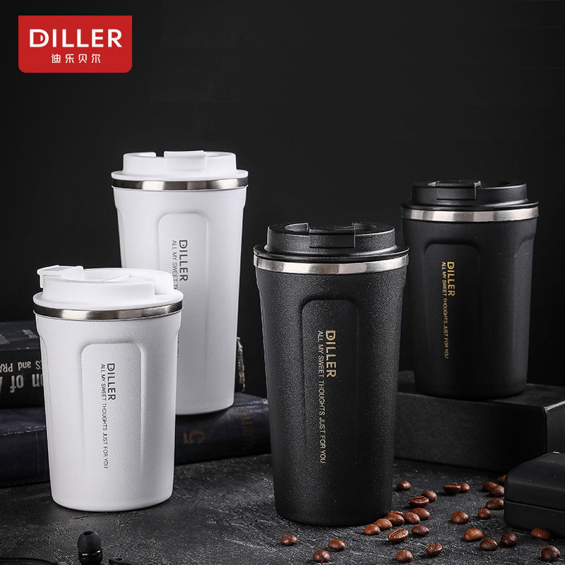DILLER MLH8768 Thermos Double Layer 304L Stainless Steel Thermos Thermos Cup Coffee Tea Milk Travel Cup Kettle